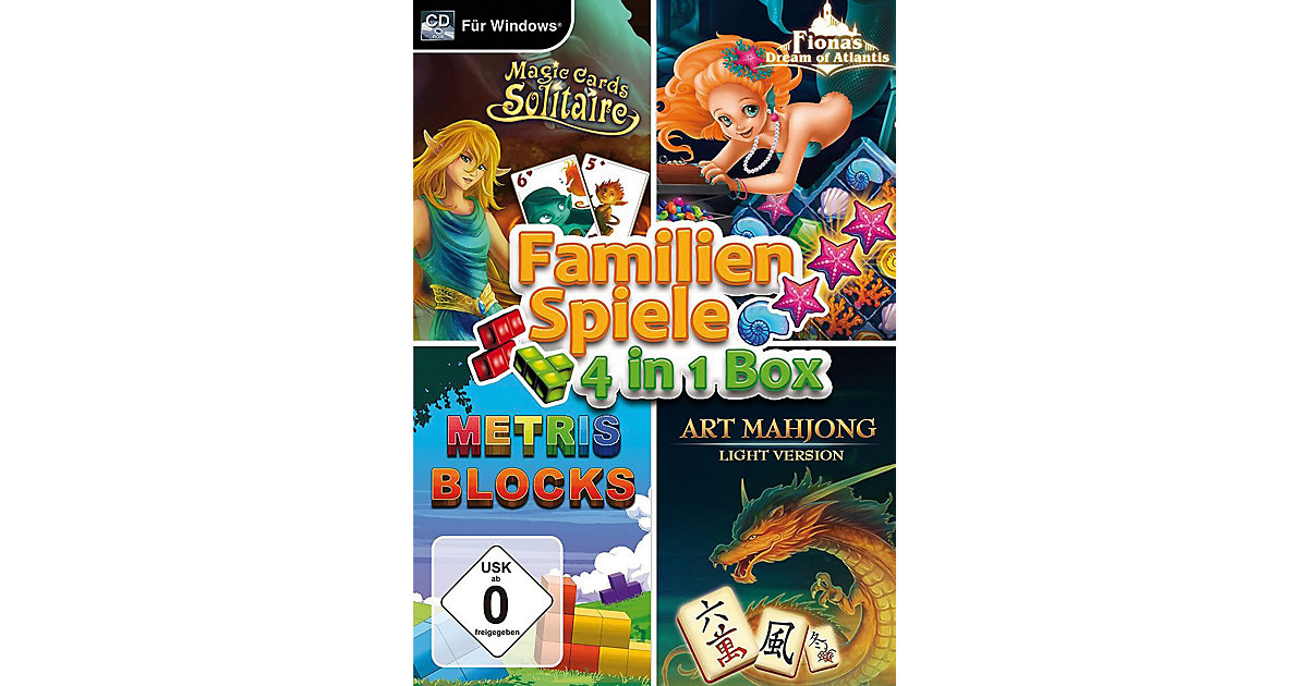 PC Familienspiele- 4 in1 Box
