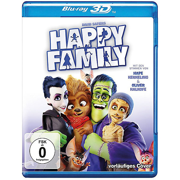 BLU-RAY Happy Family 3D (BluRay 3D + BluRay)