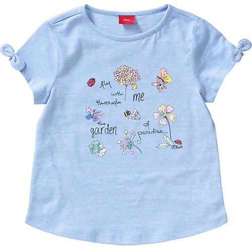 S.Oliver,s.Oliver T-Shirt mit Stickerei Gr. 140 Mädchen Kinder   04055268349312