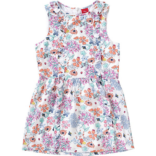 S.Oliver,s.Oliver Kinder Kleid mit Schmetterling Gr. 104 Mädchen Kleinkinder   04055268352299