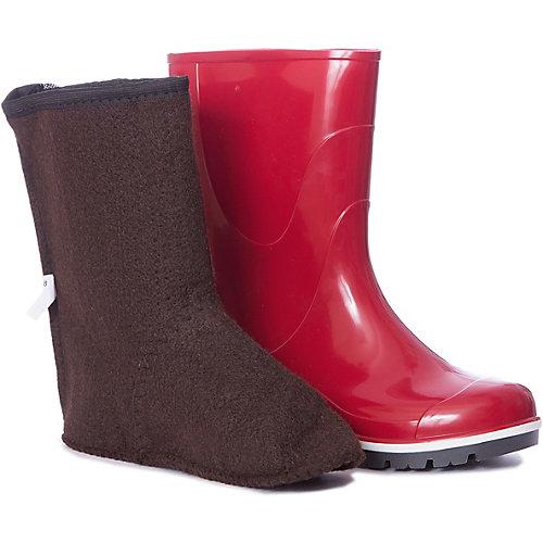 Резиновые сапоги со съемным носком Nordman - красный от Nordman