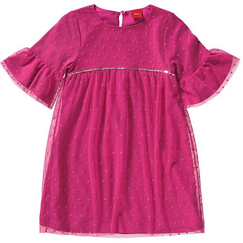 s.Oliver Kinder Tüllkleid mit Pailleitten Gr. 110 Mädchen Kleinkinder | 04055268401850