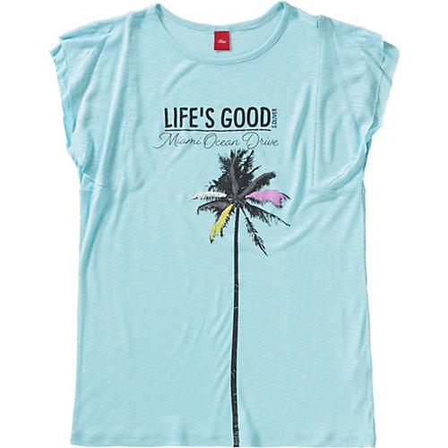 S.Oliver,s.Oliver T-Shirt mit Pailletten Gr. 176 Mädchen Kinder | 04055268393773