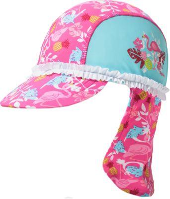 Playshoes M/ädchen M/ütze UV-Schutz Sonnenhut Badem/ütze Flamingo