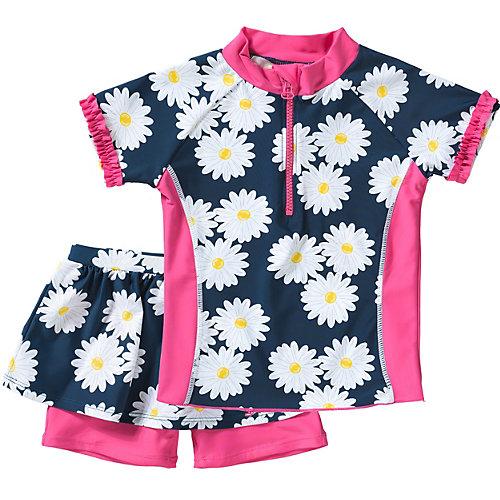 Playshoes Schwimmanzug Margarite UV-Schutz Gr. 98/104 Mädchen Kleinkinder   04010952477597