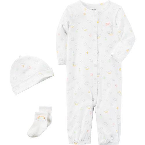 carter`s Baby Set Overall + Mütze + Socken Gr. 74 Mädchen Baby | 00190796400365