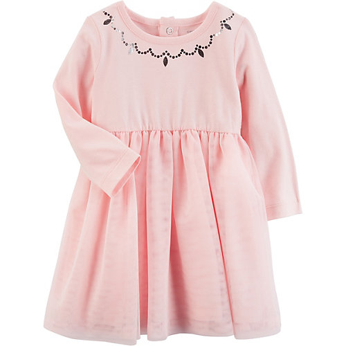 Baby Jerseykleid mit Tüllrock Gr. 80 Mädchen Baby   00190796653082