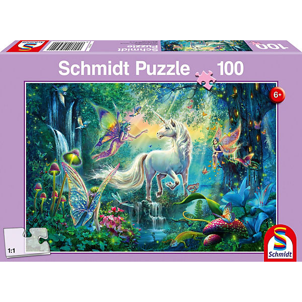 Puzzle 100 Teile Im Land der Fabelwesen, Schmidt Spiele