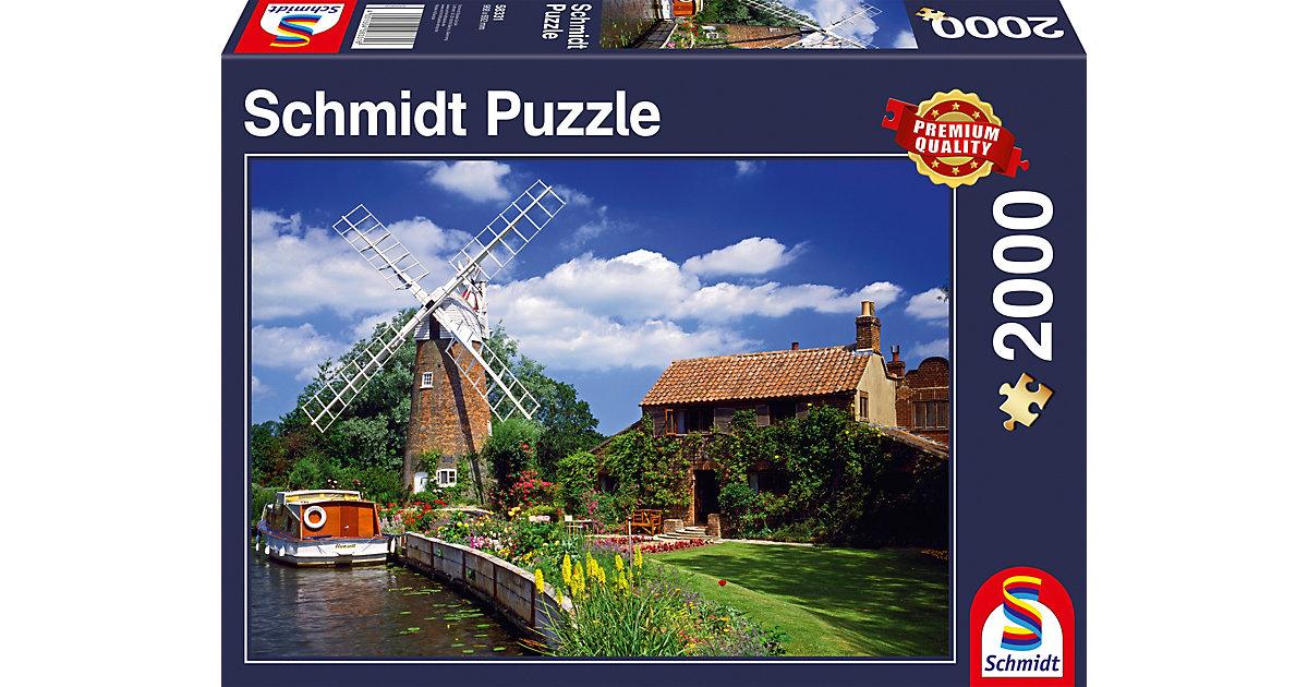 Puzzle 1000 Teile Unterwegs mit dem Hausboot