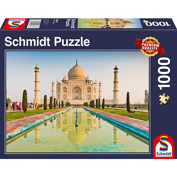 Puzzle 1000 Teile Taj Mahal, Schmidt Spiele