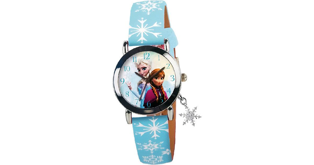 Die Eiskönigin Analoguhr mit Metall, Kunstlederarmband und Schneeflockencharm