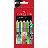 Цветные карандаши Faber-Castell Grip, 12 цветов