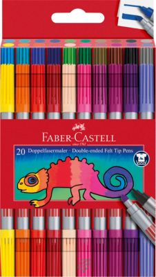 20 Filzstifte Connector FABER CASTELL Fasermaler incl.8 Connectorclips