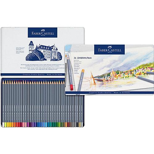 Карандаши акварельные художественные Faber-Castell Goldfaber Aqua, 36 цветов от Faber-Castell