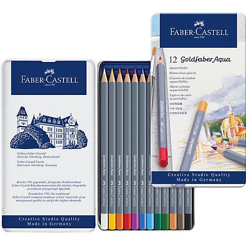 Карандаши акварельные художественные Faber-Castell Goldfaber Aqua, 12 цветов от Faber-Castell