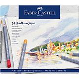 Карандаши акварельные художественные Faber-Castell Goldfaber Aqua, 24 цвета