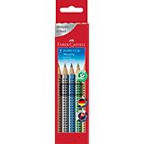 Цветные карандаши Faber-Castell Jumbo Grip Metallic, 5 цветов