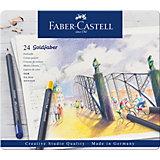 Карандаши цветные Faber-Castell Goldfaber, 24 цвета