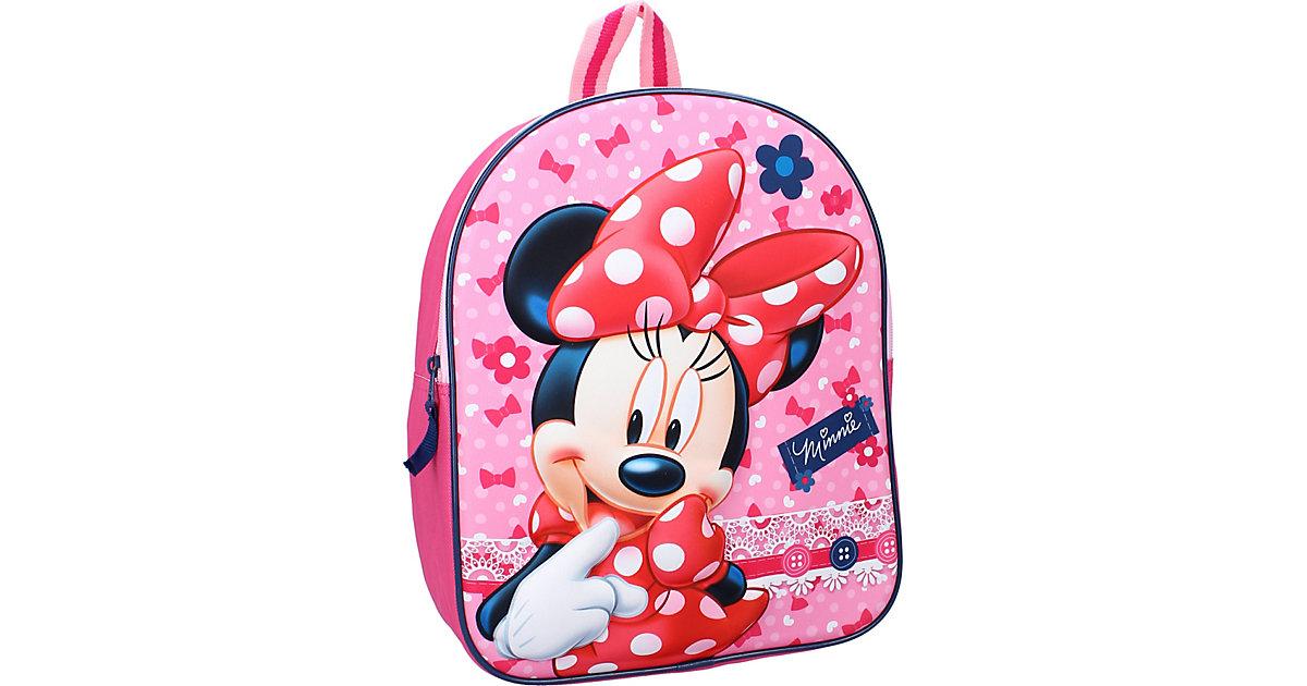 Kinderrucksack 3D Minnie Mouse pink
