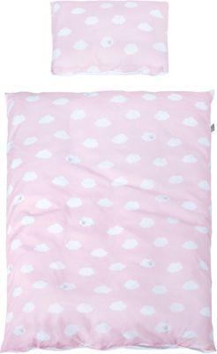 Kinderbettwäsche Kleine Wolke, rosa, 100 x 135 cm, Roba