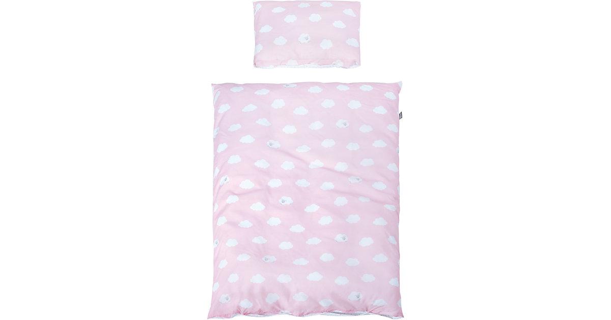 Kinderbettwäsche Kleine Wolke, rosa, 100 x 135 cm   Kinderzimmer > Textilien für Kinder > Kinderbettwäsche   Rosa   Baumwolle   Roba