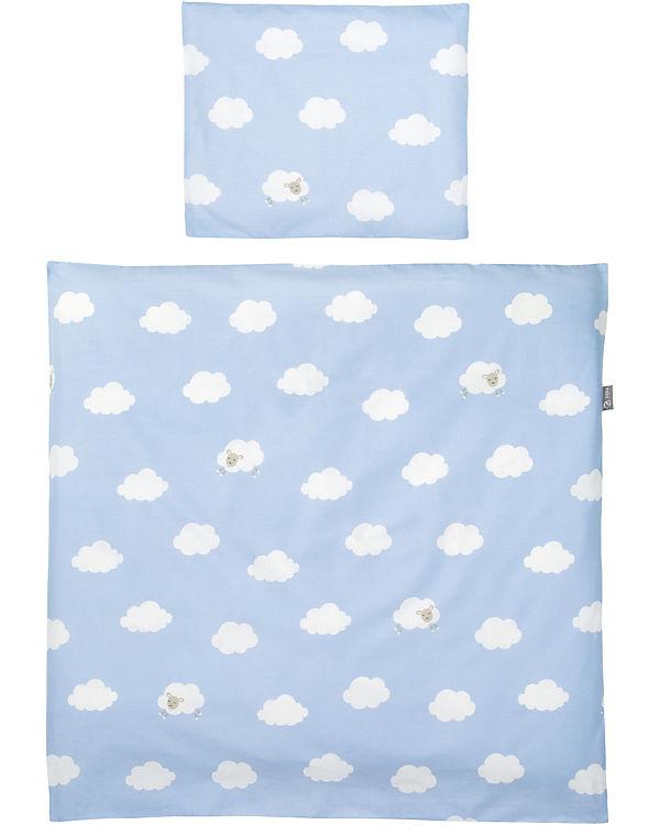 Babybettwäsche Kleine Wolke, blau, 80 x 80 cm, Roba