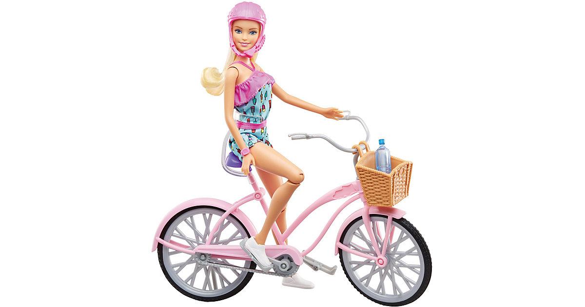 Barbie Puppe mit Fahrrad