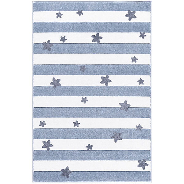 Kinderteppich, STARS and STRIPES blau/weiß