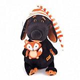 Мягкая игрушка Budi Basa Собака Ваксон в колпачке и с лисичкой, 29 см