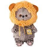 Мягкая игрушка Budi Basa Кот Басик Baby в шапке - лев, 20 см
