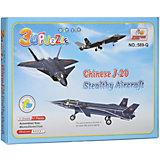 "3D пазлы Zilipoo ""Самолет J-20 Стелс"", 41 деталь"