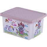 """Детский ящик для хранения игрушек """"X-BOX"""" """"Сказочная Принцесса"""", 17л"""