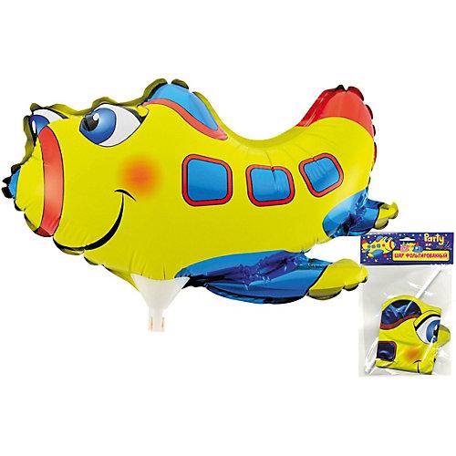 Фольгированный шар на палочке ACTION! Самолет, 30х21см от ACTION!
