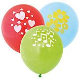 Воздушные шары ACTION! с рисунком  30см, 100шт