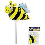 Фольгированный шар на палочке ACTION! Пчела, 20х20см