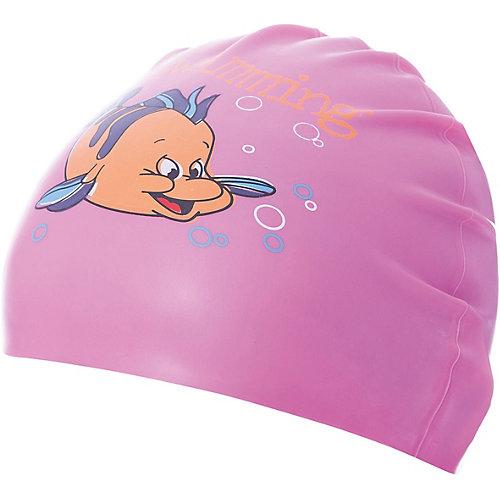 Силиконовая шапочка для плавания Dobest, с рисунком, розовая от Dobest