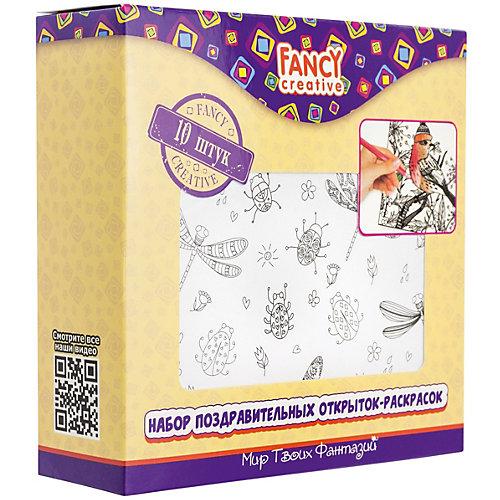"""Набор открыток-раскрасок Fancy Creative """"Веселые принты"""" от Fancy Creative"""