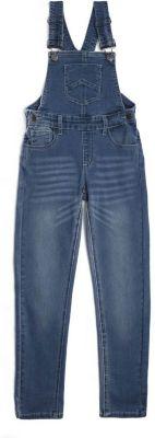 Полукомбинезон джинсовый PlayToday для девочки - голубой