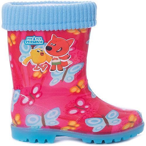 """Резиновые сапоги со съемным носком Kakadu """"Ми-ми-мишки"""" - розовый от KAKADU"""