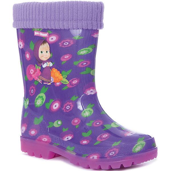 """Резиновые сапоги со съемным носком Kakadu """"Маша и Медведь"""""""