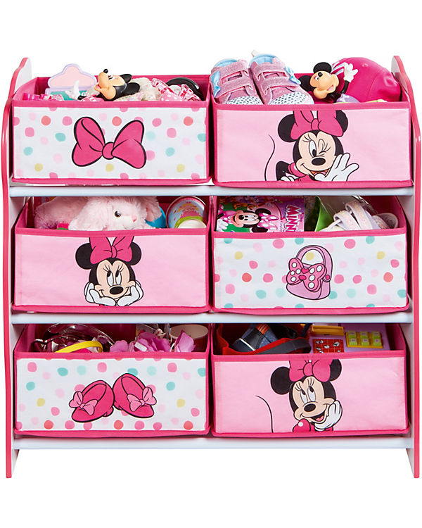 6-Boxen Regal, Minnie Mouse, rosa/weiß, Disney Minnie Mouse