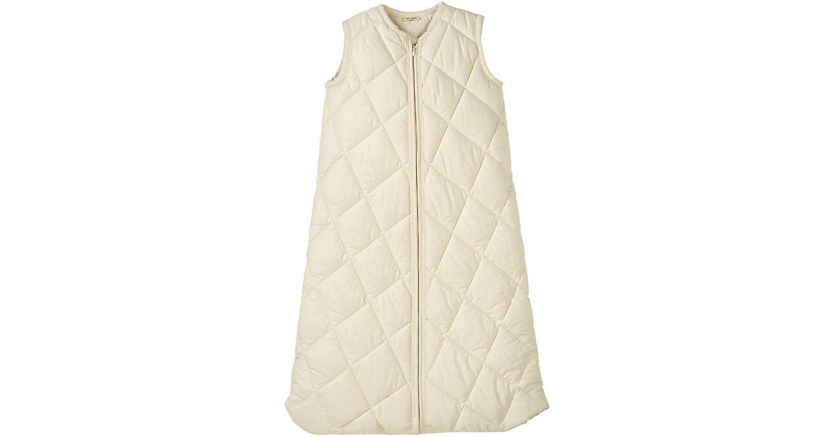 hessnatur Baby Satin-Schlafsack aus Bio-Baumwolle – naturfarben – Größe 070 cm