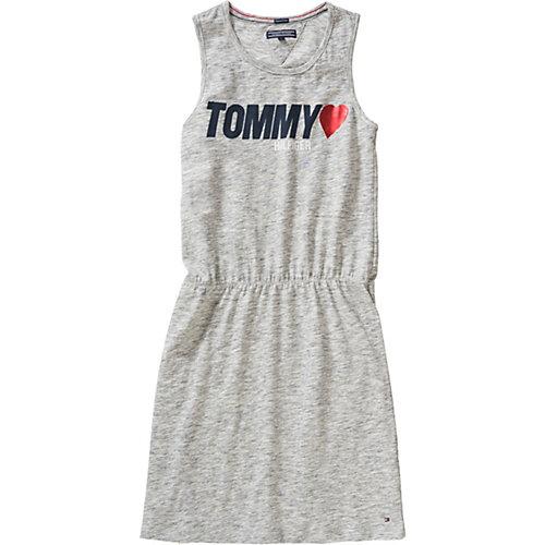 TOMMY HILFIGER Kinder Jerseykleid, Organic Cotton Gr. 140 Mädchen Kinder | 08719257552560