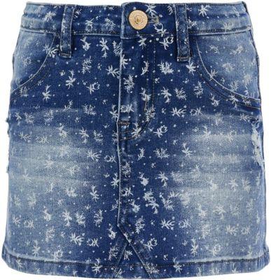 Юбка джинсовая Button Blue для девочки - синий