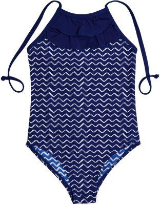 Купальник Button Blue для девочки - темно-синий