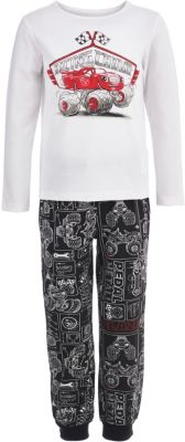 Пижама Button Blue для мальчика - белый