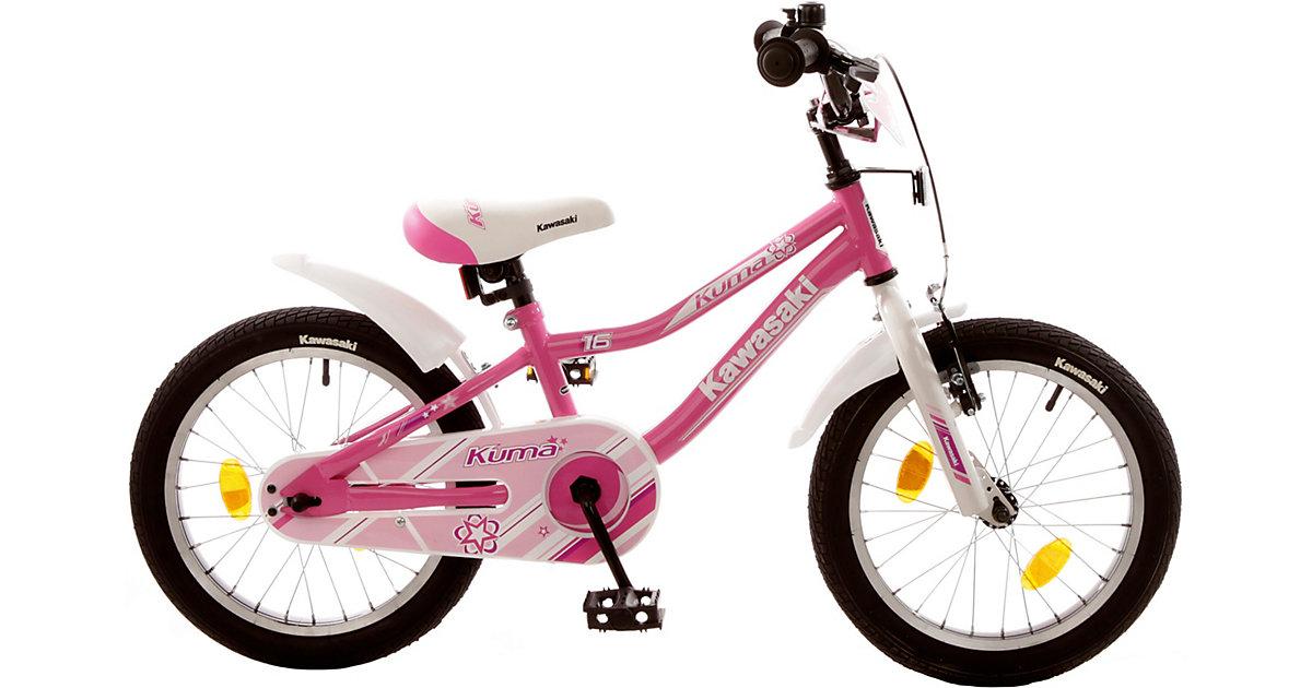 Kinderfahrrad Kuma 16 Zoll, pink-weiß