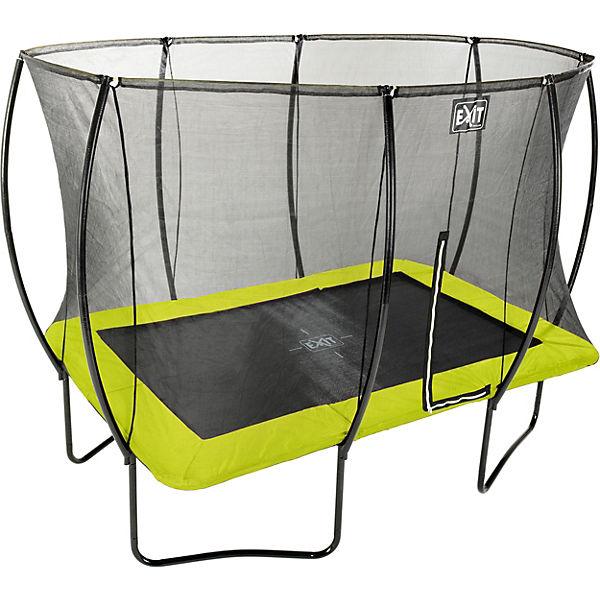 Trampolin Rechteckig 4m : trampolin silhouette rechteckig 244x366 cm sicherheitsnetz gr n exit mytoys ~ Whattoseeinmadrid.com Haus und Dekorationen