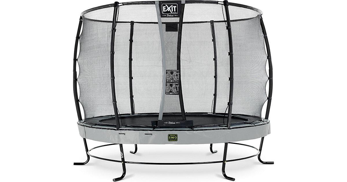 EXIT · Trampolin Elegant Premium 305 cm + Sicherheitsnetz Deluxe, grau