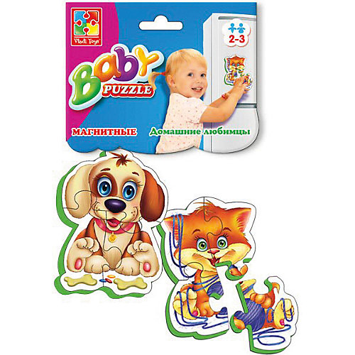 """Мягкие магнитные Baby puzzle """"Домашние любимцы"""" от Vladi Toys"""
